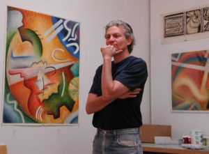 Dave in the studio